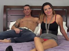 Relaxing in bed then they fuck and he nuts on her tits - Danica Dillon