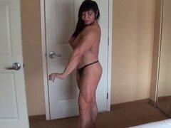 Músculo lucha tijeras - Amazon chica destruyendo chico