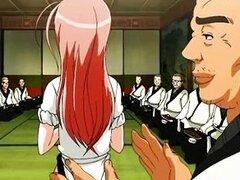Hentai japonés obtiene humillado y gangbange