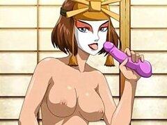 Presentación de dibujos animados porno desnuda