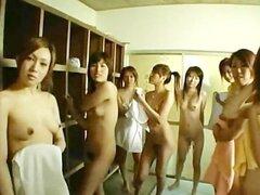Subtítulos Virgen japonesa y colegialas en baños