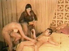 Porno Vintage años 60 - trío de adolescentes peludas Retro