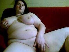 Gran Teta tetona BBW chica se masturbe en la cámara web. Gran Teta tetona BBW chica masturbe en Webcam