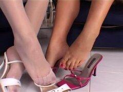 Caliente lesbianas pies fetiche pies chupando