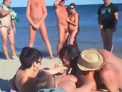 día de voyeur en playa nudista!