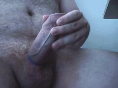 Thick cock cum on webcam