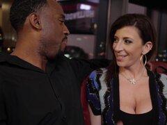Horny porn star Sara Jay takes a big black dick - Tonight's Girlfriend