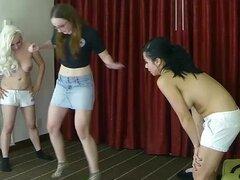 4 chicas una velocidad memoria juegan, perdedores deben