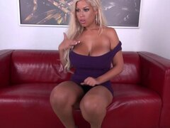 Hot curvy slut invites a man into the room to fuck her - Bridgette B