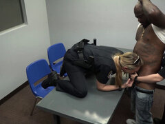 Interracial rough threesome with curvy and beautiful milfs in uniform. Interracial rough threesome with curvy and beautiful milfs in uniform Female cops reality show with interracials