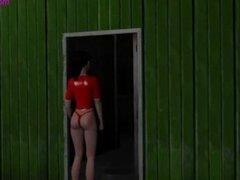3D roja chica caliente se la follan por criatura