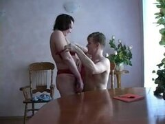 Mature Russian Dora gets nailed by a young guy. Slutty Russian Dora gets her experienced pussy slammed hard in this young vs. old hardcore video and she seems to love it.