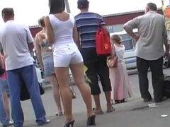 pantalones cortos sexy teen culo, blanco, Adolescente sexy en pantalones cortos blancos