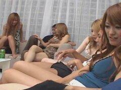 Orgía adolescente hosts Horny babe japonesas sin censura