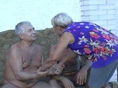Material de archivo de compilación de abuelita disfrutar vida sexual duro-a
