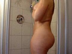 Clásico rubia PAWG en su mejor momento toma ducha. Clásico rubia pawg PAWG en su primer duchas toma rubia en la ducha ducha