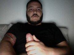 Str8 Bearded Guys Jerking - Barbudos Str8 Pajeandose
