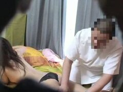 Spycam Wife cheating with masseur