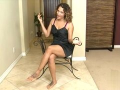 Hot mature Latina fondles her hairy cooch. Sexy mature Latin bitch used her hands in this video to make her pussy orgasmic.