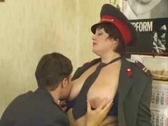 Policía rusa en guardia