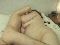 Gordita pelirroja Janet desnuda a su tio en su rostro - Janet
