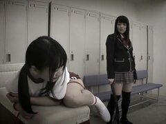 Caliente chica japonesa en fetiche increíble, video HD JAV