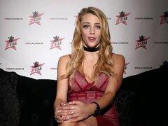 DP Star 3 - Tall Blonde Pornstar Blake Eden Deep Throat Blowjob