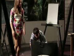 Lisa Rowe mamando como una profesional y follada por detras
