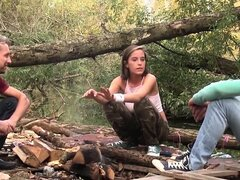 Masaje adolescente cubierto de Cum