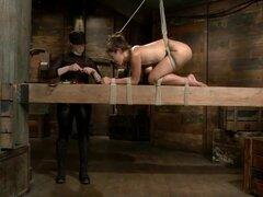 Audrey Rose Challenged con resistente viga de Bondage, excepcional Audrey Rose se empuja al máximo con 4 escenas de bondage rayo implacable y orgasmos reales, duros implacables. A partir de una elevada progresivamente más severa hogtie, su cintura se fija
