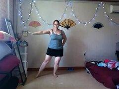 Gordita sexy bailando