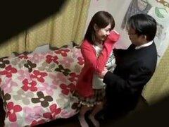 Follando a linda chica japonesa con tetas gigantes,