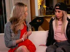Sapphic lesbiana adolescentes digitando coño