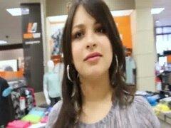 Naughty Hottie Colombia centro comercial obtiene doggystyle jodido