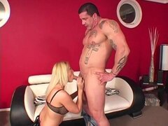 Latex boots and fishnets on a naughty girl getting laid - Sindy Lange