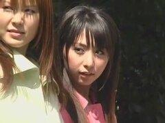 Impresionante chick japonesa Yuka Osawa, Risa Arisawa, Haru Sakuraba en cachondas sexo en grupo, películas público JAV,