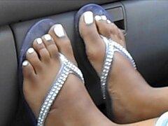 Ashley Smith blanco dedos de los pies