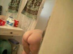 Mi mujer hermosa grande Ex plegado sobre en lavadero, mi gran mujer hermosa ex esposa voyeured de flexión sobre la bañera. ¿Amor culo? Dígame qué haría a él.