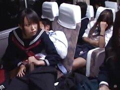 Asia inocentes sopla polla en el bus