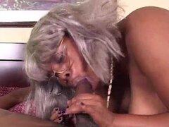 BBW ébano abuela