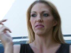 Estrellas porno cachondo Cate Harrington y Michelle Moist en rubia increíble, película porno morena,