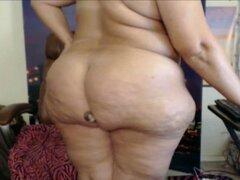 Señora de grasa Real de explorar y mostrar su amor