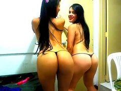 topless girls dance n tease on webcam. Bubble butts and perky yet big boobs on both of these Immature latinas make me think they're related. They have lots of fun doing a private webcam video that somehow got amateur. It's a shame not sharing this much hotness