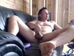 Clip gay casera increíble con masturbación, escenas de la Webcam,