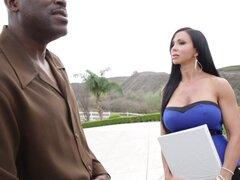 Maravilloso Lexington Steele y joyas de Jade tienen sexo Interracial