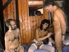 Vintage caliente! Swingers MMF bisexuales!