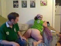 Novia BBW dildoed y dedos orgasmo en webcam