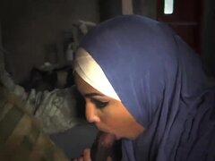 Musulmana madura primera vez el punto de caída del Booty, 23km fuera de base