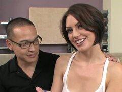 Cuckold husband witnessing his wife fucking a very hung black man - Sarah Shevon, Shane Diesel