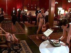 Calientes jovencitas muy cachondas y sumisas aman formar parte de una elegante sesion BDSM